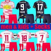 Adulto Criança 2021 2022 RBL Leipziges Home Jersey 21 22 Szoboszlai Hee-chan Koneate Sabitzer Kluivert Poulsen Halstenberg Camisas Futebol Futebol Kit Kids Kit