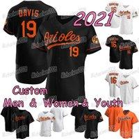 Baltimore 2021 Jersey de béisbol Trey Mancini Davis Santander Cedric Mullins Austin Hays Pat Valaika Ramon Urias Freddy Galvis Maikel Franco Chance Sisco Rio Ruiz