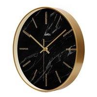 Wall Clocks Gold Large Clock Modern Watch Silent Living Room Bedroom Marble Home Decor Relogio Parede Gift FZ980