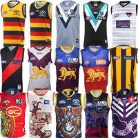 AFL Port Adelaide Crows Essendon Bomber Jersey Brisbane Löwen Fremantle Dockers Tank Top Gold Coast Suns Hawthorn Hawks Weste Australische Regeln Fußballtrikots