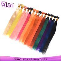 Human Hair Bulks 30 Inch Bundles Colored Straight WholeSale Price Deals Brazilian Extensions 100% Virgin Weave