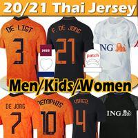 4XL Países Bajos Nuevo 21/22 Camiseta de Fútbol Netherlands MEMPHIS F.DE JONG DE LIGT STROOTMAN VAN DIJK VIRGIL 2021 Holland Hombre Niños kits mujer treino Camisetas de Fútbol