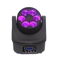 2 peças LYRE LED DMX 4IN1 RGBW 6x15W Mini B Eye LED Feixe Moving Head Head Fase Casamento Disco DJ Light