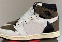 Sapatos Limited 2.0 Travis Scott Alternate Branco Negro Sail Negro Escuro Mocha 1S OG TS SP 1 Homens Sneakers Sports US7-13