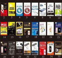 36 Designs Protège-écran universel 9H Protecteur de téléphone en verre trempé Film de téléphone de la boîte de vente au détail de papier