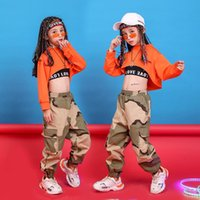 Clothing Sets Kid Cropped Sweatshirt Top Camouflage Casual Pants Hip Hop Performance For Girls Child Jazz Dance Costumes Clothes Wear
