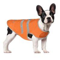 Dog Apparel Pet Cats Reflective Strip Raincoat Waterproof Snow-Proof Orange Rain Clothes Can CSV