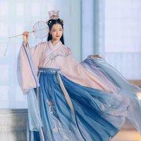 Kadınlar için Zarif Hanfu Nakış Örgü 6 M Büyük Salıncak Phoenix Nakış Hanfu Degrade Renk Elbise Peri Kız Performans1