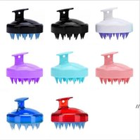 Silikon-Shampoo-Bürste Shampoo-Kopfhaut-Massage-Bürste Haarwaschkammkörper-Körperbad Spa Abnehmen Massage Clean Pinsel Scrubbers AHA4937