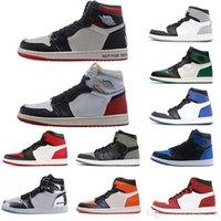 Союз NRG NO LS Желтый 1 Высокий OG Compred Toe Banned Royal Basketball Shoes Мужчины 1s Top 3 Разрушенные щитные кроссовки