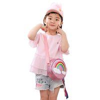 Shiny Cute Kids Wallet Cartoon Zipper Print Girls Toddler Bag Rainbow I2jw Purses Leather Twndm