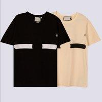 21ss Designers Tee top Mens Womens T Shirts colpus letter printing Man Paris Fashion T-shirt Short Sleeve luxurys Tshirts apricot black