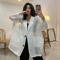 Summer Long Sleeve Sunscreen Loose Jacket Women V-neck Oversize Fashion Brand Female Coats Korean Clothes Streetwear Women's Jackets