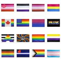Bandera del arco iris 90x150cm American Gay Pride Bander Banner Bander Bander Polyester American Banner para la decoración Zza3291