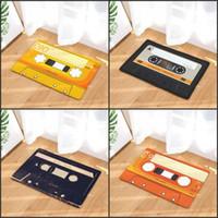 Door mat Flannel Plush Vintage Cassette Tape Indoor Doormat Non Slip Door Floor Mats Carpet Rugs Decor Porch Doormat Tapete BWE5974