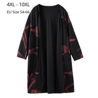 Women's Wool & Blends wool Plus Size 10XL 8XL 6XL 4XL Women Sleeve V Neck Autumn Windbreaker Femme Elegand Print Long Oversize Winter Trench 0HDU