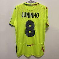 Retro Lyon 2008/09 Soccer Jerseys Benzema Juninho Ederson Pjanic Vintage Futbol Kit Camicia da calcio classica