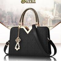 Gykz Marke Designer Umhängetasche für Damenmode Handtaschen Neue Frau Ungewöhnliche PU-Schale Taschen Perlen Reißverschluss 210226