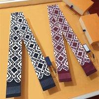 Elegante Schal Handtasche Schals Seideschals Stirnband Mode Brief Tier Einfache Design Für Mann Frauen 7 Farbe Hochqualität