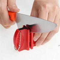 Mini Faca Rápida Sharpener Aço Inoxidável Cerâmica Facas Afiação de Pedra Tungstênio Aços Diamante Sharpeners Cozinha Ferramentas EWD6180