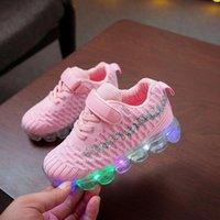 Children Kid Baby Girls Boys Bling Led Luminous Sport Run Sneakers Casual Shoes Athletic & Outdoor
