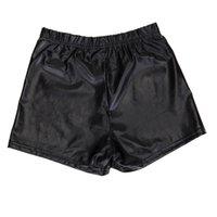 Kadın Şort Sayfut 2021 Sahte Deri Moda Düz Renk Kadın Yaz Rahat Seksi Kısa Pantolon Yüksek Bel Kadın est Pantolon S-XXL
