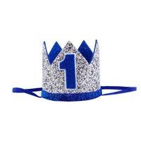 3 ans Casquettes d'anniversaire Couronne 1ère chapeau Douche Baby Douche Bandeau décoratif Happy Mignon Born Party Cap Accessoires pour cheveux