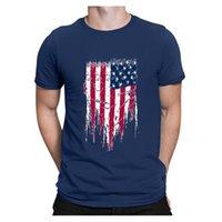 Men's T-Shirts 2021 Usa Flag T Shirt Mens Women Sexy 3d Print Tshirt Striped American Men T-shirt Summer Tops Tees Fashion Clothes