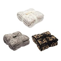 Blankets Leopard Print Sofa Blanket Cheetah Velvet Air-conditioning Suitable For Air Conditioning