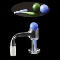 Smoking Accessories Fully Weld Terp Slurper Quartz Banger Nails With Solid Color Bead And Baseball For Glass Bongs