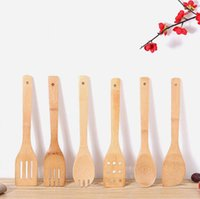 Cooking Utensils Long Handle Scrapers Bamboo Spatula High Temperature Resistant Bamboos Spoon Environmental Protection Household Kitchen DD079