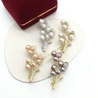 Ulusal Stil Kış Aomei Tianran Tatlısu Inci Birden Çok Boncuk Korsaj Broş Kazak Pap Pin