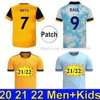 20 21 22 Wanderers Soccer Jersey 2021 2022 Wolves Home yello...