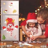 Wall Stickers Christmas Sticker Xmas Snowman Refrigerator Merry Decor