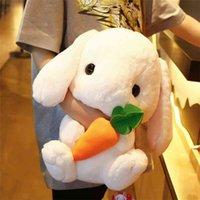Симпатичные чучела кролика плюшевые мягкие игрушки кролика детская подушка кукла творческие подарки для детей ребенка сопровождают игрушку спать 22/22/43см 210802