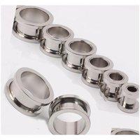 100pcs / lot mix 2-10mm billiga smycken ~ rostfritt stål skruv öronplugg kött tunnel piercing kropp smycken 9mgx0 c3