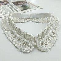 Bow Ties Fashion Black White Shirt Fake Collar For Women Detachable Female False Lapel Blouse Top Nep Kraagie