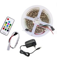 4m 5m 30 LEDS / M Programable Individual LED LED LED Luz externa WS 2811 IC RGB Lámpara de cinta DC 12V Tiras