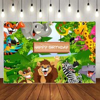 Party Decoration Forest Kingdom Cute Animal Series Backgrounds Cloth Po Shootings Backdrops For Baby Birthday Studio