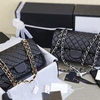 Çanta Kadın Lüks Tasarımcılar Çanta 2021 Moda Klasik Crossbody Hakiki Deri Tote Flap Lady Koyun Omuz El Çantası Çanta Altın ve Gümüş Zincir Kutusu Ile
