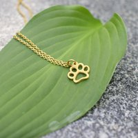 Pendant Necklaces Europe And The United States Personality Pet Footprints Chain Necklace Female Dog Print Cat Clavicle