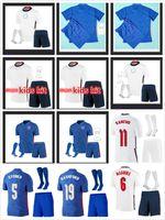 Tailandia Hombres + Niños 2021 Angleterre Jerseys de fútbol PRE PARTIDO PERSIFICADO TERCERO Concepto Negro Inicio Dele Dele Rashford Sancho Sterling Kane Football Shirt