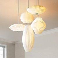 Pendelleuchten Moderne Seide Bubble Lampe George Nelson Hängende Wohnzimmer Kunst Kronleuchter LED-Aufhängung PA0363