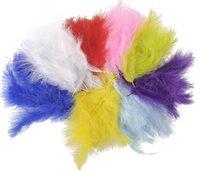 Pequena penas de peru tingido penas de avestruz diy decoração de casamento penas penas de roupa acessórios de roupa penas 14 cm HDD0005