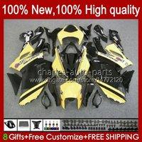 Kawasaki Ninja ZX600C ZX-600 ZX600C 600CC 6 ZX636 07-08 Bodywork 10No.39 ZX-636 600 CC ZX6R 07 08 ZX600 ZX 636 ZX-6R 2007 2008 Bodys Kit 노란색 검은 색