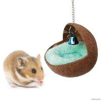 Pet Hindistan Cevizi Kabuğu Yuva Kuşlar Ev Hamster Sincap Hollandalı Pigsty Sıcak Uyku Yatak Papağan Dinlenme Yeri M25 21 Toptan Küçük Hayvan Sayı