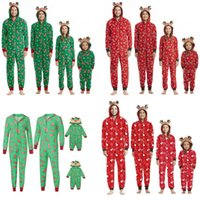 Weihnachten Pyjamas für familiäre Anteile an Party sorgt für Familien Weihnachten PJS Passende Sets Jumpsuits Matchings Elternkind Kostüm Cosplay 6 stücke Free DHL HH21-722