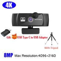 4K 1080P 2K Full HD Web Camera For PC Computer Laptop USB Cam With Microphone Autofocus Camara Webcamera Webcams