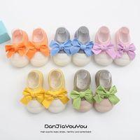 Baby First Walker Shoes Toddler Moccasins Soft Girls Socks Spring Autumn Children Bow Newborn Shoe Footwear B6476