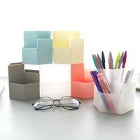 Large Capacity Desk Pen Holder Pencil Makeup Storage Box Desktop Organizer Stand Case School Office Stationery GWD10617